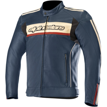 Alpinestars Dyno v2 Leather Jacket - Blue