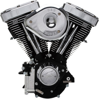 S&S V96R Carbureted Engine - Wrinkle Black