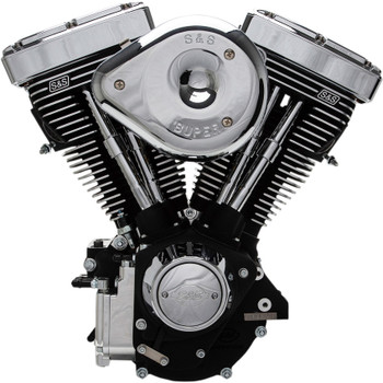 S&S V80R Carbureted Engine - Wrinkle Black