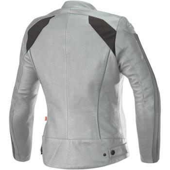 Alpinestars Stella Dyno v2 Women's Leather Jacket - Gray/Aqua
