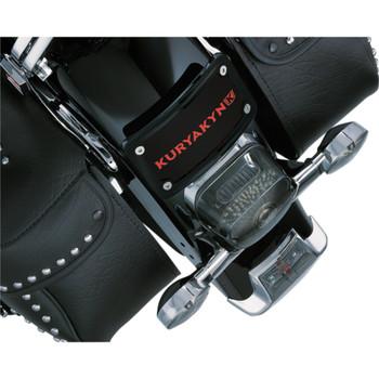Kuryakyn Curved Laydown License Plate Mount w/ Frame for Harley