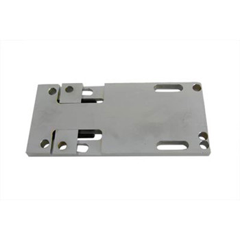 V-Twin Chrome Adjustable Transmission Mounting Plate for 1936-1984 Harley