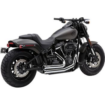 Cobra 909 2-Into-2 Exhaust for 2018-2019 Harley Fat Bob - Chrome