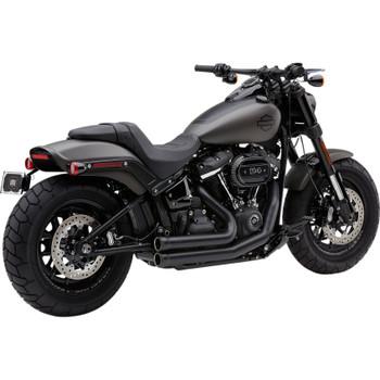 Cobra 909 2-Into-2 Exhaust for 2018-2019 Harley Fat Bob - Black