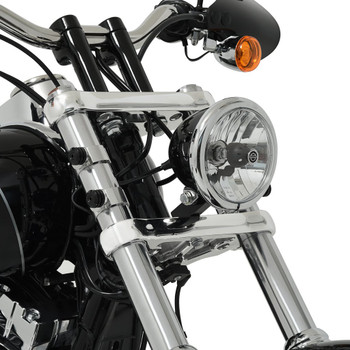 Memphis Shades Wide Headlight Extension Block for Harley