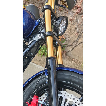 HardDrive 49mm Gold Fork Tubes for 2006-2017 Harley Dyna - Standard Length