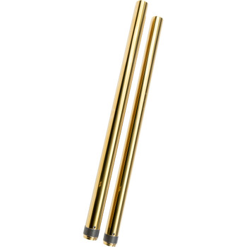"HardDrive 39mm Gold Fork Tubes for Harley Dyna & Sportster - 2"" Over Stock"