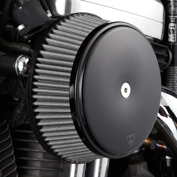 Arlen Ness Big Sucker Air Cleaner Kit w/ Synthetic Filter for 1999-2017 Harley Twin Cam Cable Throttle - Wrinkle Black