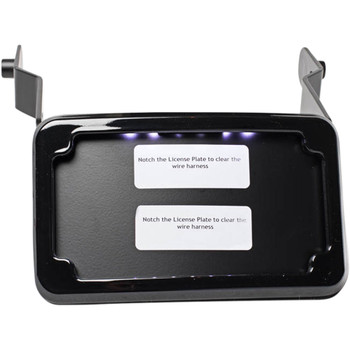 Cycle Visions Curved License Plate Mount for 2013-2017 Harley Street Bob - Black