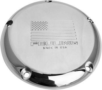Feuling American Flag Logo Derby Cover for 1999-2018 Harley Big Twin - Polished