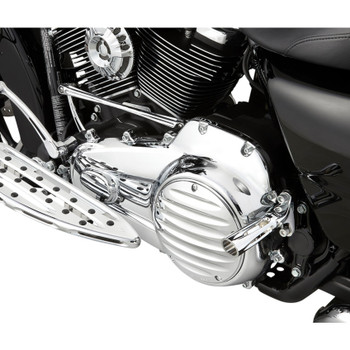 Arlen Ness Deep Cut II Ness-Tech Derby Cover for 1999-2018 Harley Big Twin - Chrome