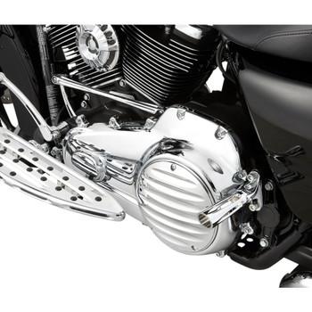 Arlen Ness Deep Cut II Ness-Tech Derby Cover for 1999-2018 Harley Big Twin - Chrome