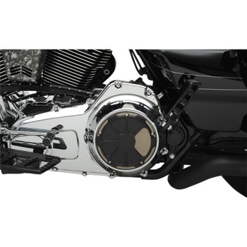LA Choppers Fusion Derby for 1999-2018 Harley Big Twin - Laser Satin Black