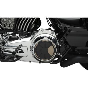 LA Choppers Fusion Derby for 1999-2018 Harley Big Twin - Laser Satin Black