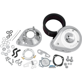S&S Teardrop Air Cleaner Kit for 1991-2006 Harley Sportster - Chrome