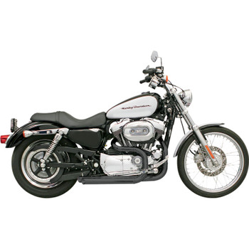 Bassani Pro-Street Exhaust for 2004-2013 Harley Sportster with Mids - Black