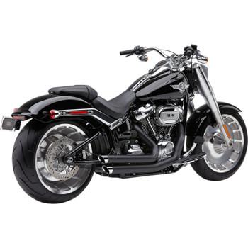 Cobra Speedster Slashdown Exhaust for 2018-2019 Harley FLFB/FXBR/FXDR - Black