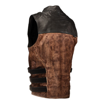 Speed and Strength Tough As Nails Moto Vest - Brown