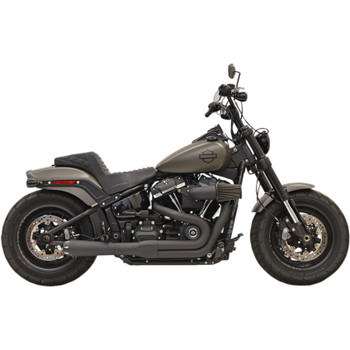 Bassani Road Rage Exhaust for 2018-2020 Harley Fat Bob and Slim - Black