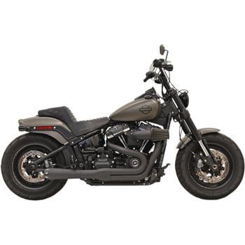 Bassani Road Rage Exhaust for 2018-2019 Harley Fat Bob and Slim - Black