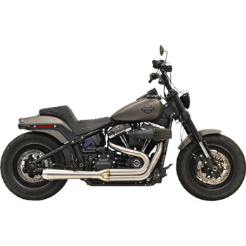 Bassani Road Rage Stainless Exhaust for 2018-2020 Harley Fat Bob and Slim