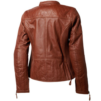 Roland Sands Women's Trinity Perforated Leather Jacket - Brown
