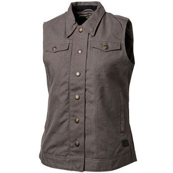 Roland Sands Women's Hayden Textile Vest - Charcoal