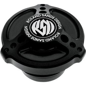 Roland Sands Tracker Billet Aluminum Gas Cap - Black Ops