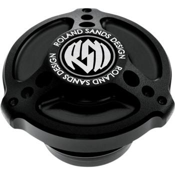 Roland Sands Tracker Billet Aluminum Gas Cap - Black Ops