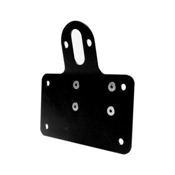 No School Choppers Universal Shock Mount License Plate Bracket - Horizontal