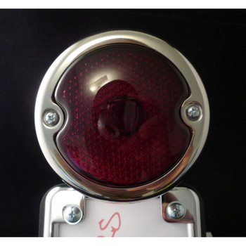 No School Choppers 33 Duolamp Tail Light - Stainless