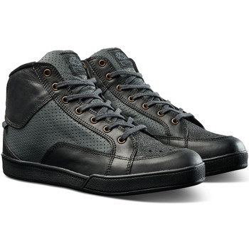 Roland Sands Fresno Perforated Riding Shoes - Black/Charcoal