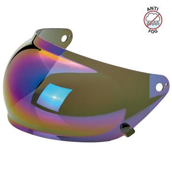 Biltwell Gringo S Antifog Bubble Shield - Rainbow Mirror