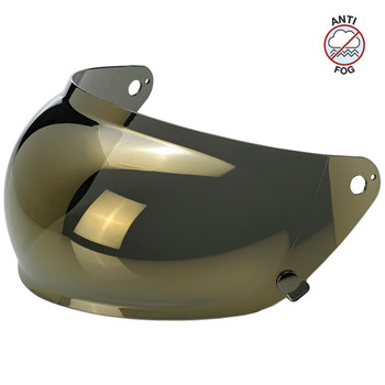 Biltwell Gringo S Antifog Bubble Shield - Gold Mirror