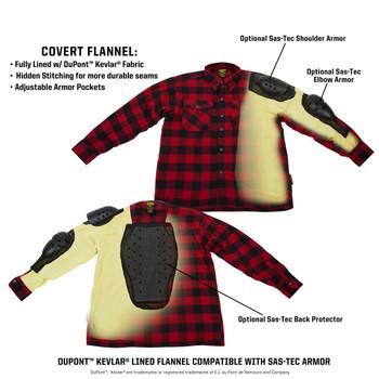 Scorpion Covert Moto Flannel Shirt - Black/Brown/Grey
