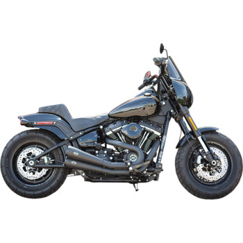 S&S Grand National 2-Into-2 Exhaust with Cat for 2018-2019 Harley Fat Bob - Black