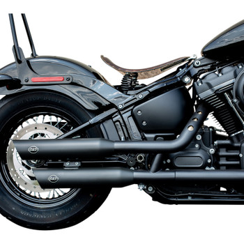 S&S Slash-Cut Mufflers for 2018-2019 Harley Softail - Black