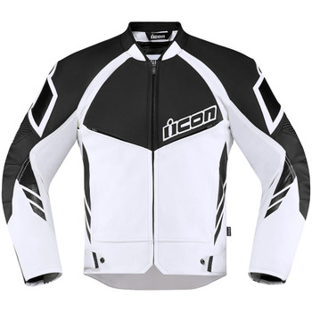 Icon Hypersport 2 Leather/Textile Jacket - White