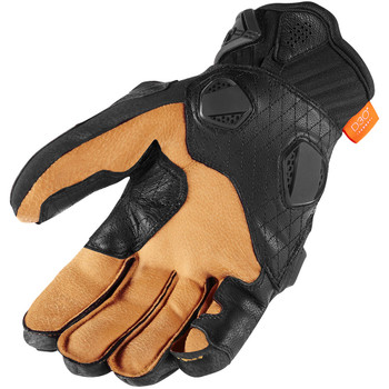 Icon Hypersport Short Gloves - Black