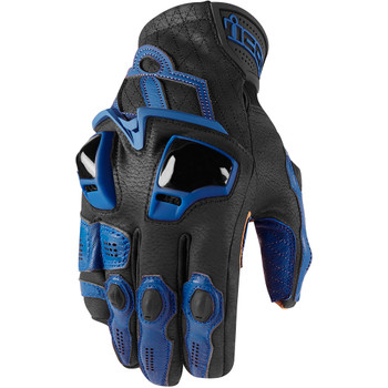 Icon Hypersport Short Gloves - Blue
