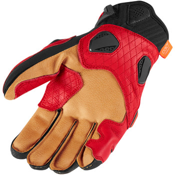 Icon Hypersport Short Gloves - Red
