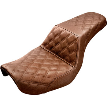 Saddlemen Step Up LS Seat for 2004-2005 Harley Dyna - Brown