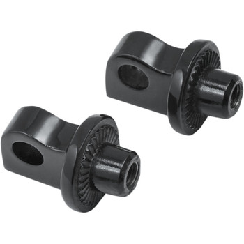Kuryakyn Splined Foot Peg Mount Adapters - Gloss Black