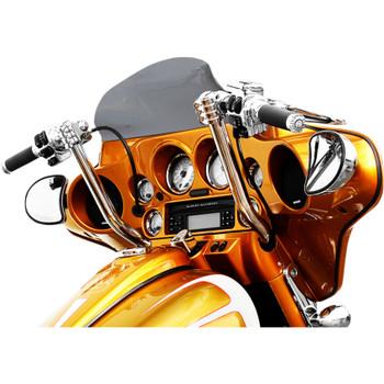 """Klock Werks 10"""" Klip Hanger Handlebars for 2008-2019 Harley Touring - Chrome"""