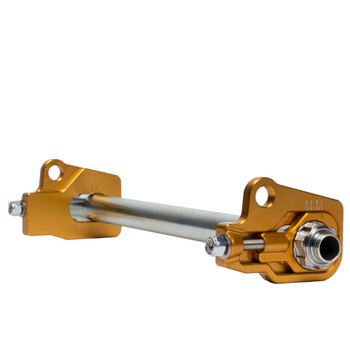 MJK Performance Low Profile Rear Axle Adjuster Kit for 2009-2021 Harley Touring - Gold