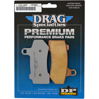 Drag Specialties Brake Pads - Repl. OEM 41852-08 - Sintered Metal for 08-19 Harley Touring