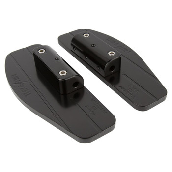 Thrashin Supply Bagger Passenger Floorboards for Harley - Black