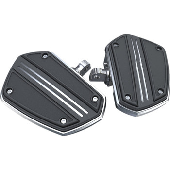Ciro Twin Rail Mini Floor Boards Foot Pegs for Harley - Chrome
