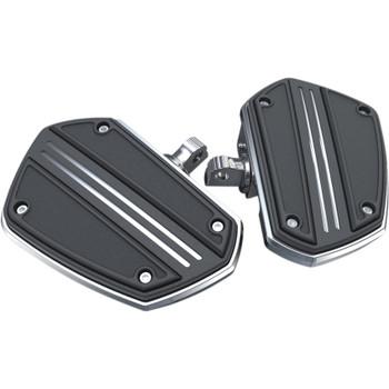 Ciro Twin Rail Mini Floor Boards Foot Pegs for Harley - Chrome