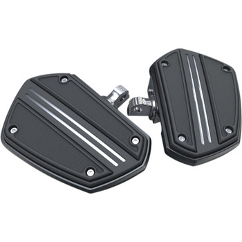 Ciro Twin Rail Mini Floor Boards Foot Pegs for Harley - Black
